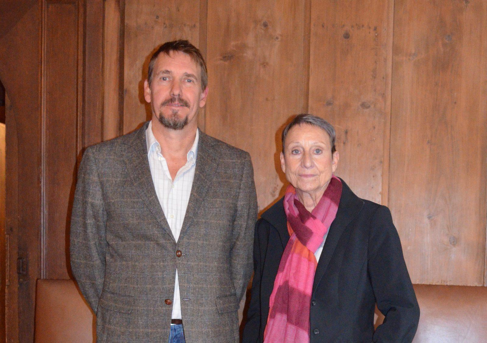 Mitglieder des Vorstandes: Barbara Krause und Michael Kroll.